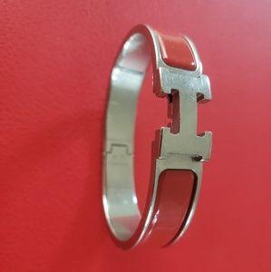 Authentic Used Hermes Clic H Bracelet
